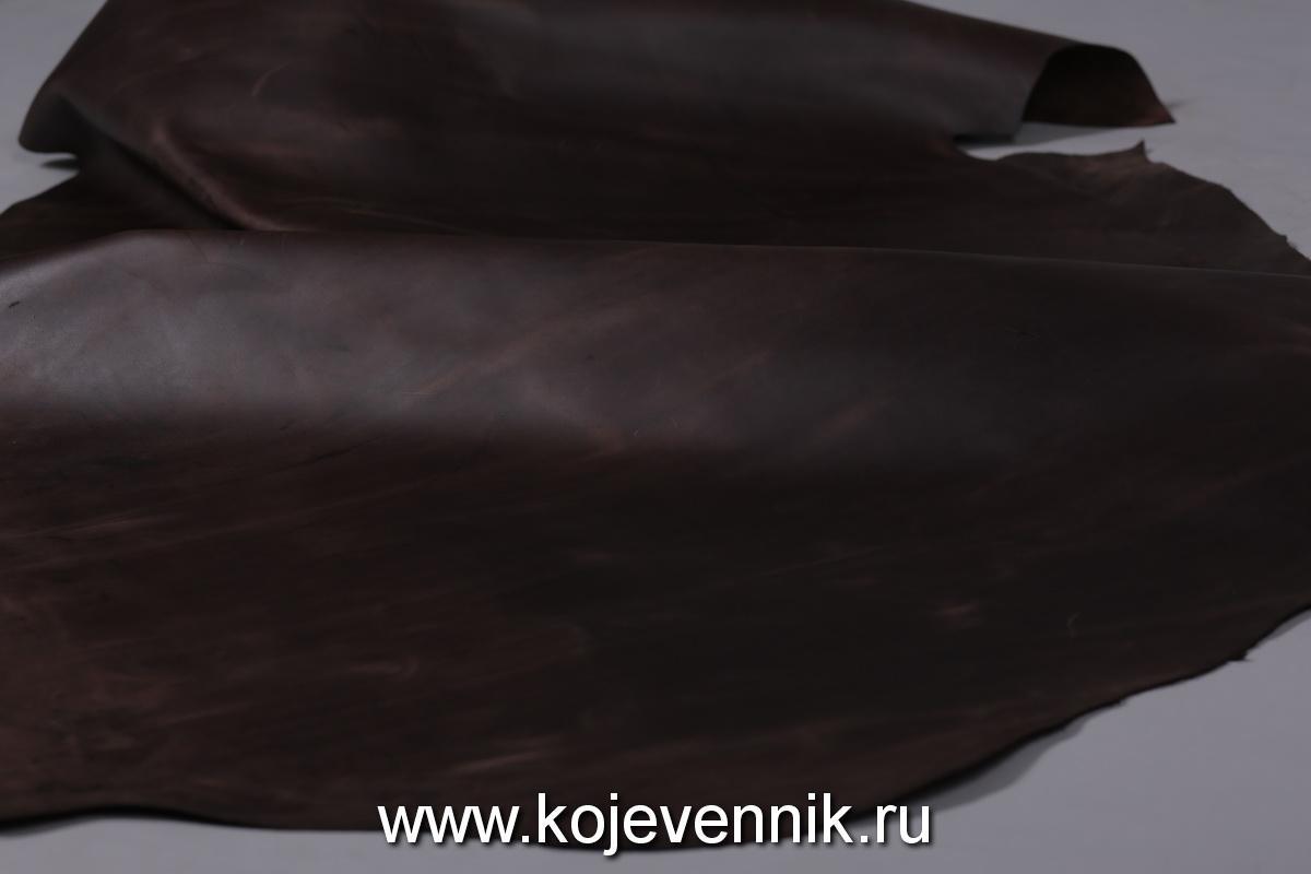 Кожа натуральная - Крейзи хорс коричневый 1,2-1,4